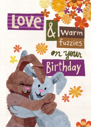Birthday Bunnies for Greeting Card Universe