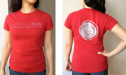 LUMINOUSbody Branding, t-shirt design