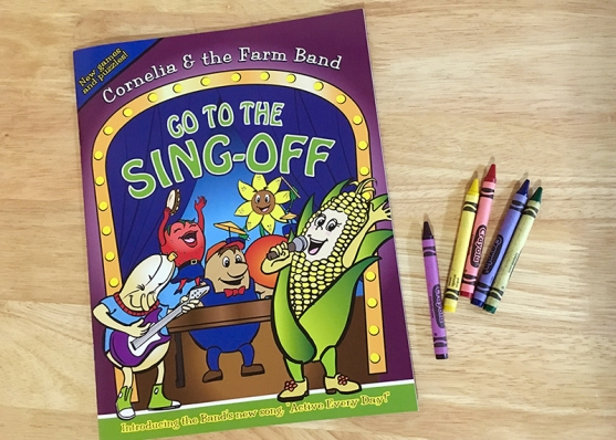 Illustration of activity book for kids' outreach program.