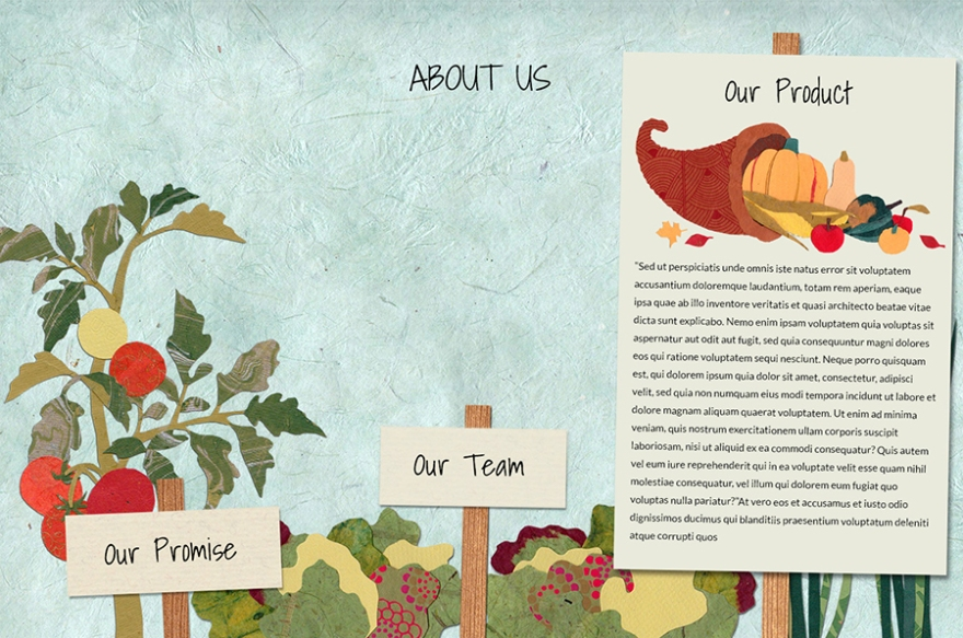 Illustration and design for About Us page