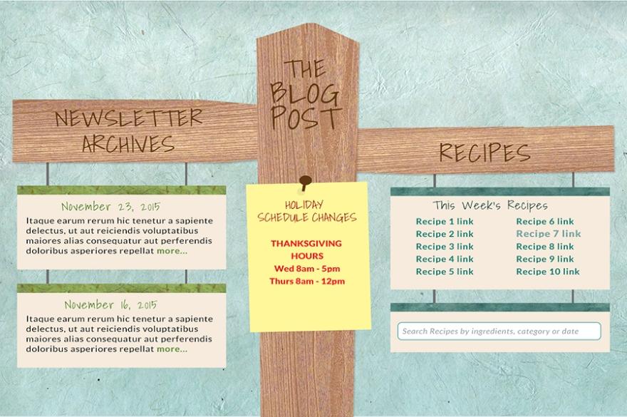 Illustration and web design for blog page
