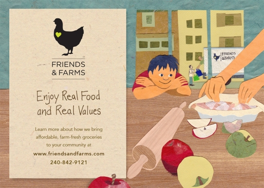 Illustration and design for front of marketing postcard