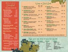 Illustration and design of menu back