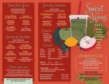 Illustration and design of menu flyer
