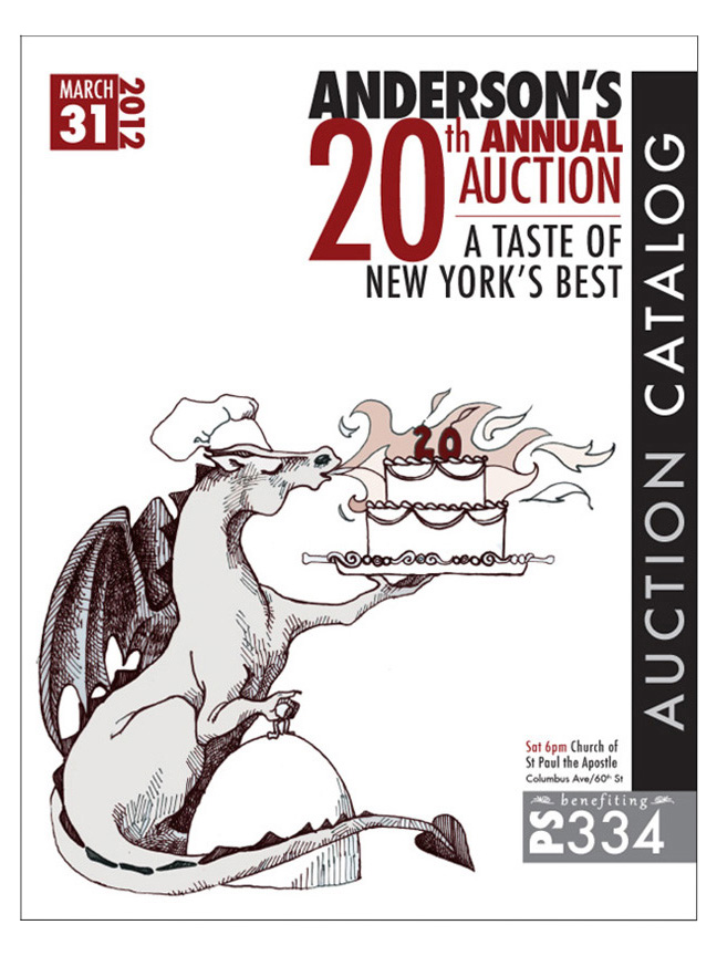 Illustration and design of fundraising auction catalog
