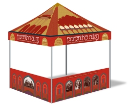 Point of purchase, tent design