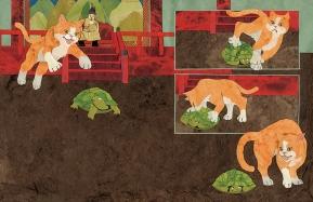 The Turtle Ship, cat attack