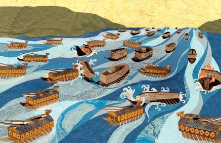 The Turtle Ship, sea battle